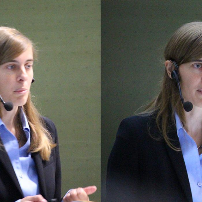 Susanne Mertens during the talk
